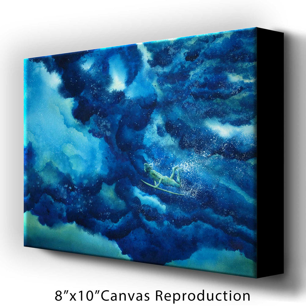 Duck Diver Art Canvas