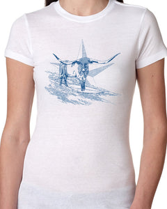 Hangin Tough Womens White T-shirt-nelsonmakesart