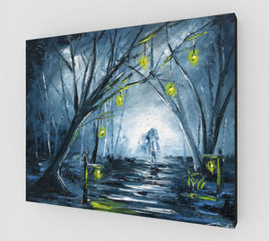 Headless Horseman Halloween Wall Art Canvas by Nelson Makes Art