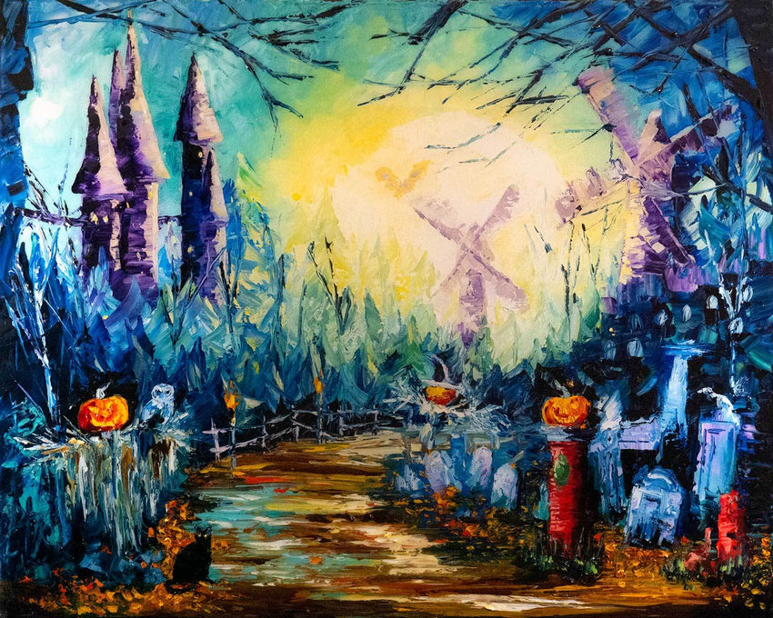 Halloween wall decor by Nelson Makes Art
