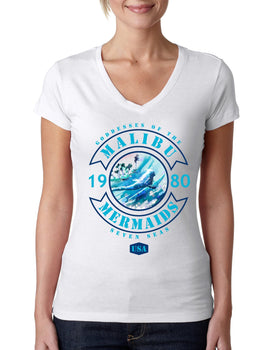 Malibu Mermaids Ladies V-neck T-shirt