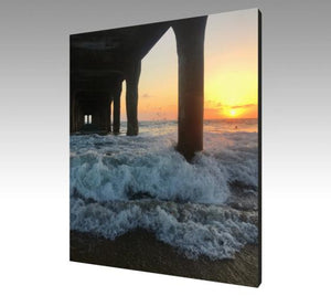 Manhattan Beach Pier Photo Art Canvas-nelsonmakesart