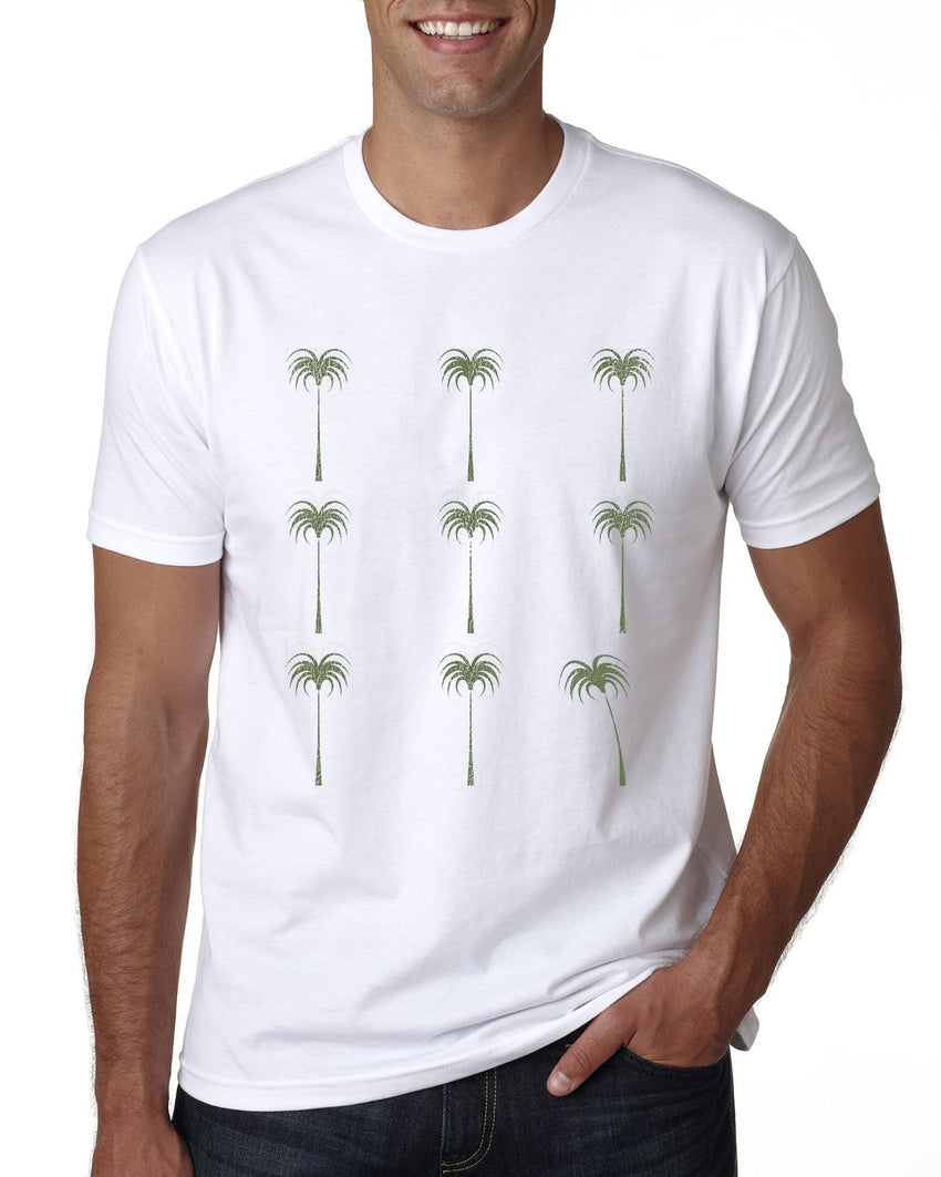 Palm Tree Pattern Mens T-shirt-nelsonmakesart