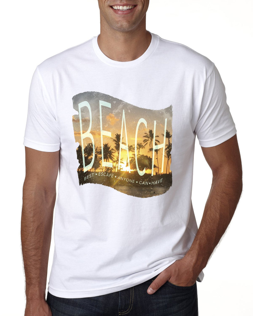 BEACH Escape Mens T-shirt-nelsonmakesart