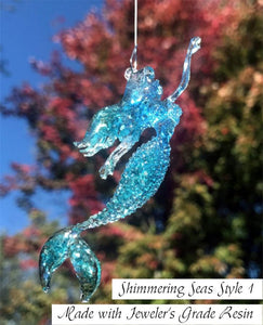 Shimmering Seas Mermaid Christmas Ornament by Nelson Makes Art