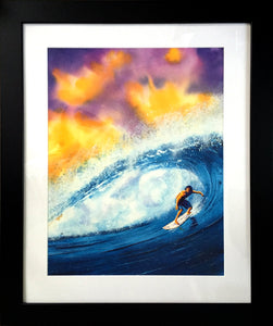 Sir Surfsalot-Surfer Beach Decor Framed Wall Art-nelsonmakesart