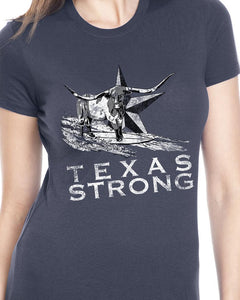 Hangin Tough - Texas Strong Womens Blue T-shirt-nelsonmakesart