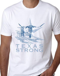 Hangin Tough - Texas Strong Mens White T-shirt-nelsonmakesart