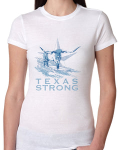 Hangin Tough - Texas Strong Womens White T-shirt-nelsonmakesart