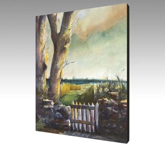 The Gate Canvas Print | Autumn Fall Wall Art | nelsonmakesart
