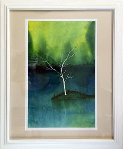 The White Tree-Abstract Zen Fantasy Forest Wall Art-nelsonmakesart