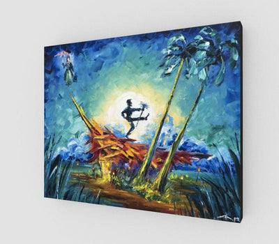 Knees Up, Tiki Time! Art Canvas