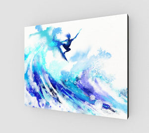 Time to Fly Canvas Art Print-Surf Beach Wall Art-nelsonmakesart