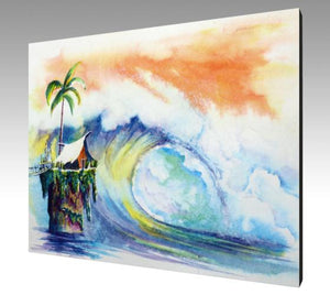 Wild Surfing Ones Canvas Art Print-Surf Wall Art-nelsonmakesart