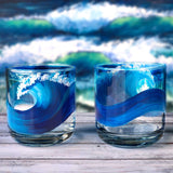 Hand painted ocean glasses painted just for surfers by Nelson Makes Art