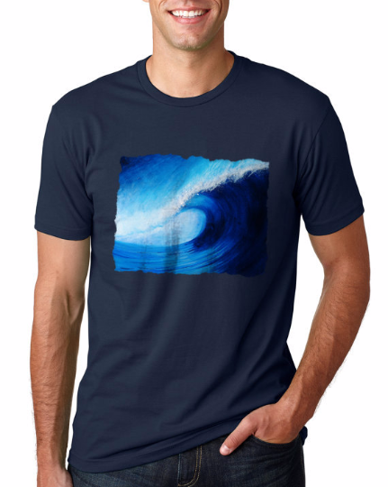 Big Blue Wave Mens T-shirt-nelsonmakesart