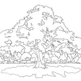 Magical Forest FREE Coloring Page - Nelson Makes Art