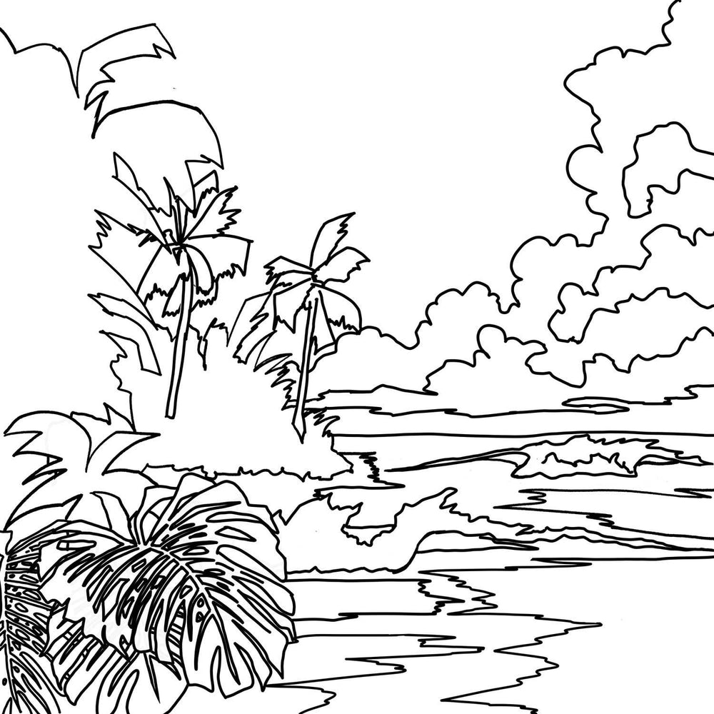 - Free Coloring Pages Beach, Mermaid, Nature Art Nelson Makes Art