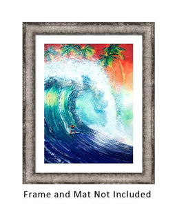 The Original Wild Ones Big Waves Surfing Art-nelsonemakesart