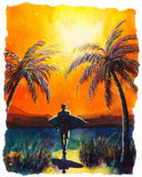Sunset Surfer T-shirt - nelsonmakesart