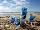 Hand Painted Surf Stemless Champagne Flutes-nelsonmakesart