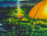 Camping Nature Nighttime Original Art-nelsonmakesart