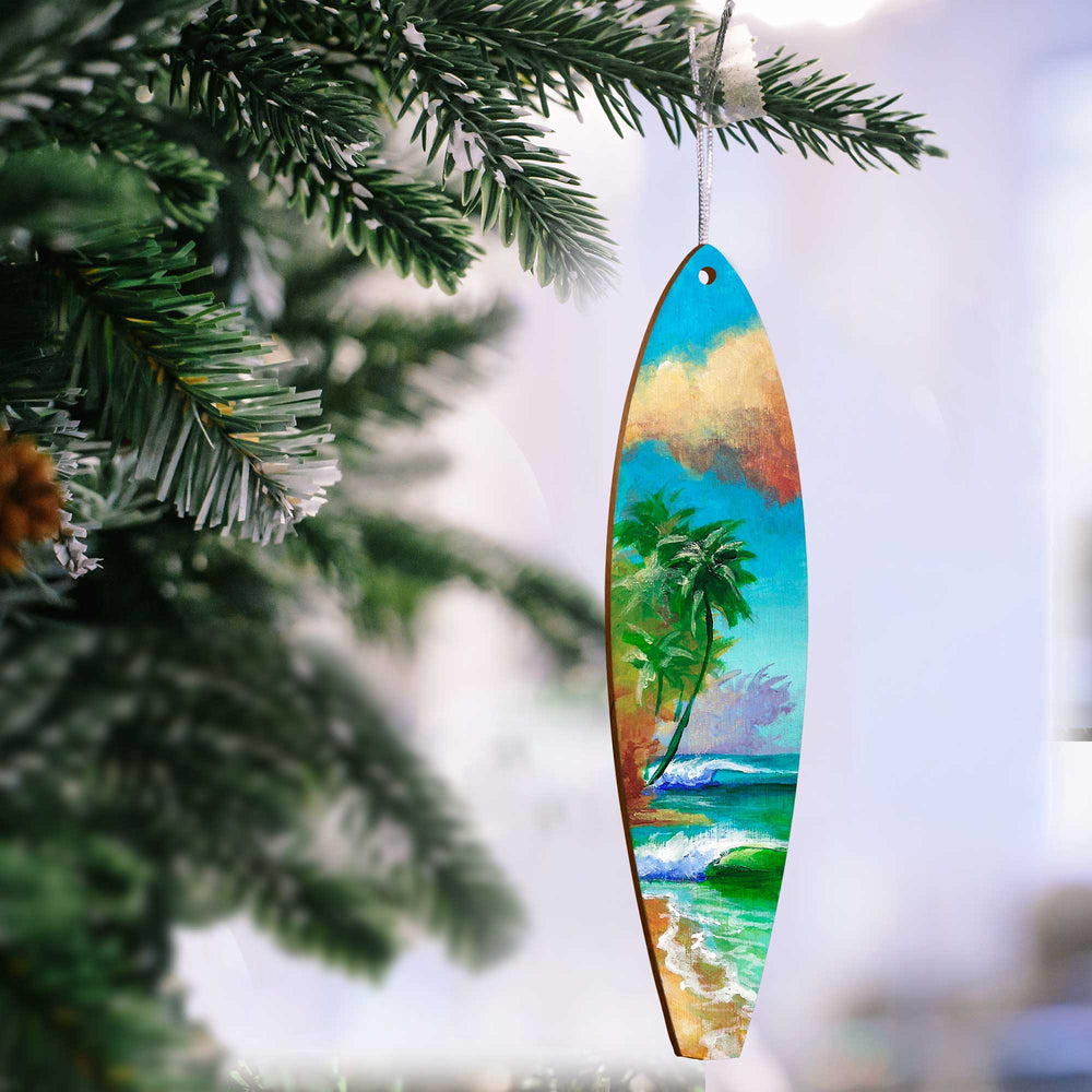 Hawaiian Holiday Surfboard Ornaments - O'ahu Style #20A