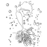Mermaid - FREE Coloring Page - Nelson Makes Art
