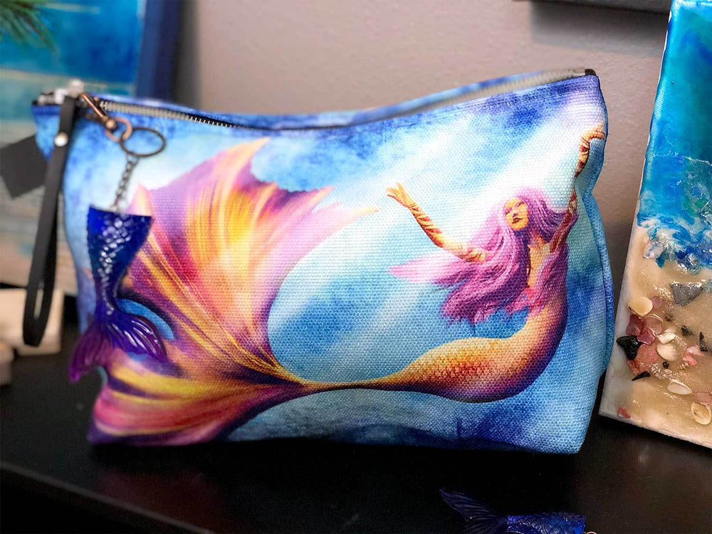 Fins Up! Mermaid Makeup Bag