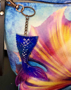 Fins Up! Mermaid Tail Resin Keychain