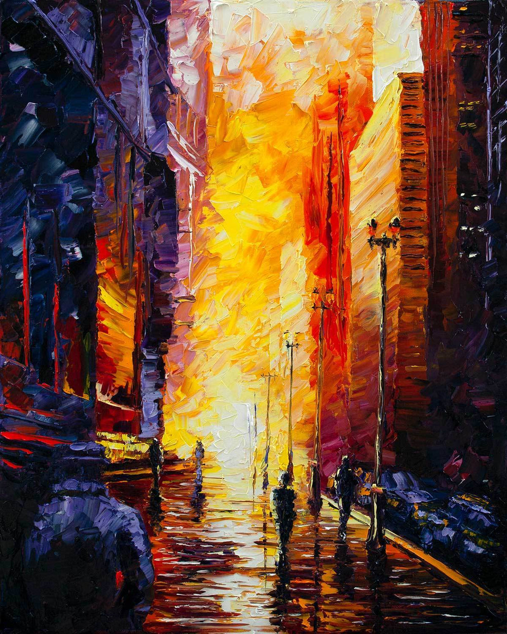 Cityscape Wall Art by Nelson Makes Art