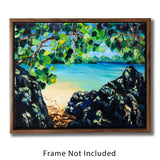 Nature Wall Art with Pristine Beach and Clear Blue Ocean