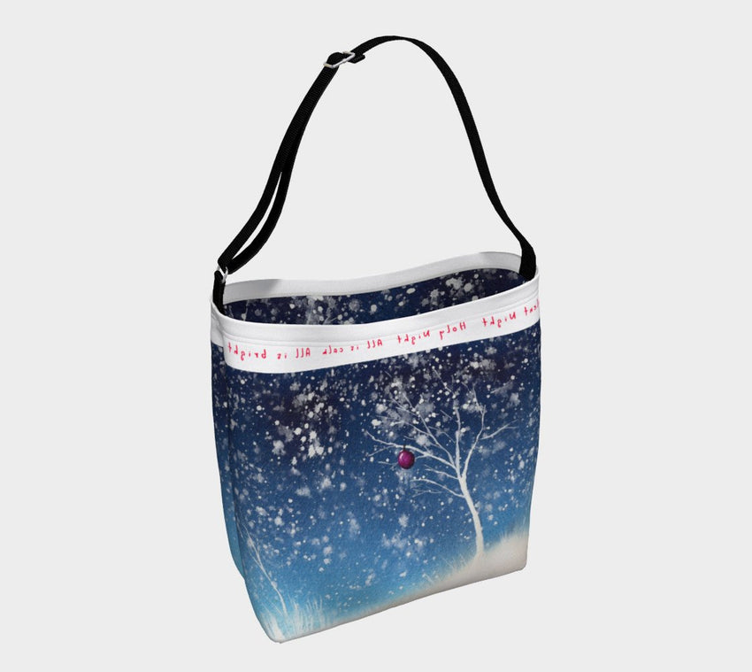 Silent Night Holiday Tote Bag-nelsonmakesart