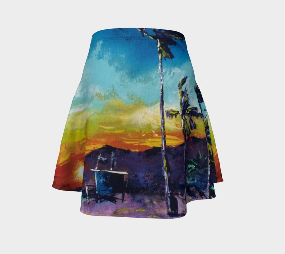 Tower Life 1 Sunset Beach flare skirt-nelsonmakesart