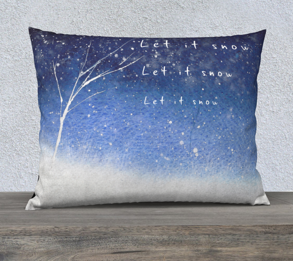 Let it Snow Winter Holiday Pillow Case-nelsonmakesart