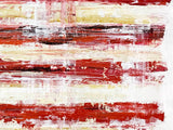 Rustic wall décor of American flag painted in bold acrylic colors against a white background