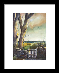 The Gate - Framed Print