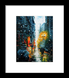 The Walking Man - Framed Print