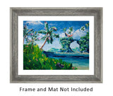 Kauai Oil Painting with Blue Ocean and Sand Beach