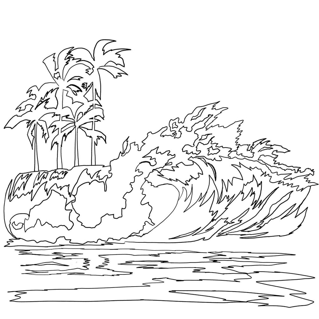 Free Coloring Pages | Beach, Mermaid, Nature Art | Nelson ...