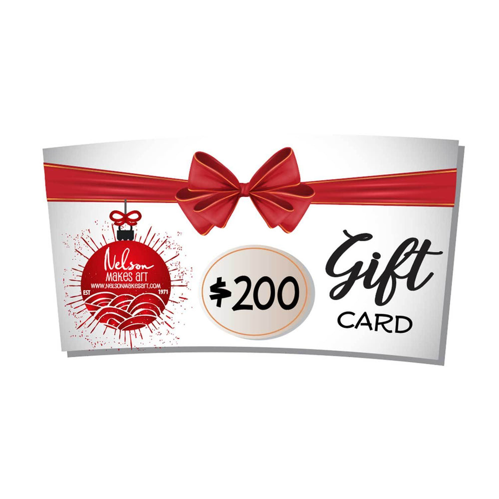 Wall Art Gift Card by Nelson Makes Art