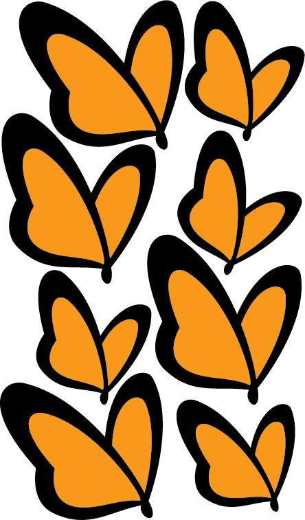 Die-Cut Butterfly Stickers, 12 sheets