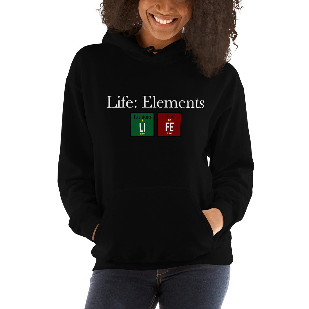 LIFE™ Essential 'Life: Elements'  Heavy Weight Unisex Hoodie