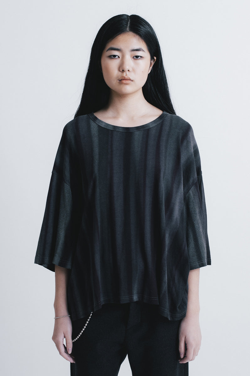 Dawn oversized t-shirt hand painted black