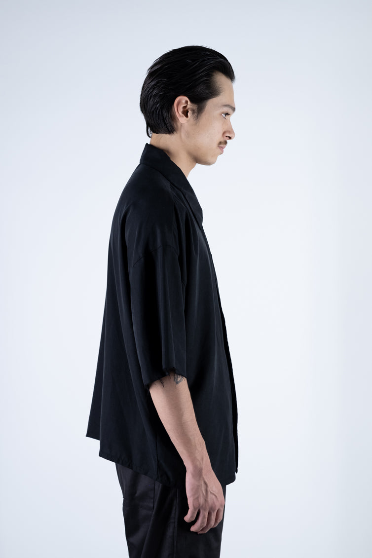 [ VAST ] SHORT SLEEVE SHIRT - BLACK