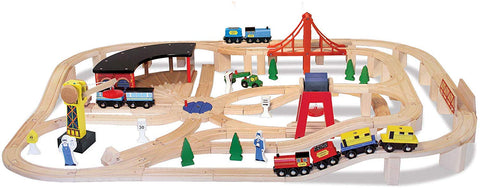 MD-10701 WOODEN RAILWAY SET