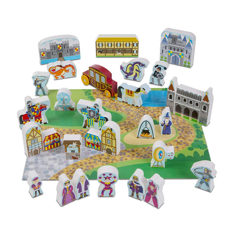 MD-10979 WOODEN CASTLE PLAY SET