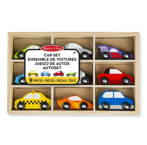 MD-13178 WOODEN CARS VEHICLE SET