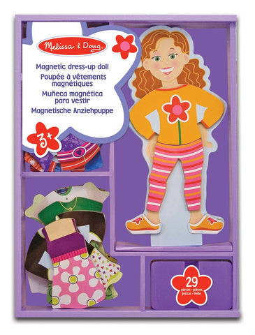 MD-13552 MAGGIE LEIGH MAGNETIC WOODEN DRESS UP DOLL