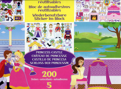 MD-14306 REUSABLE STICKER PAD - PRINCESS CASTLE